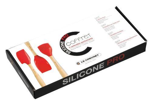 coffret ustensiles de cuisine silicone pro le creuset. Black Bedroom Furniture Sets. Home Design Ideas