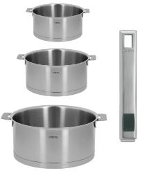 LOT DE 3 CASSEROLES CRISTEL STRATE + POIGNEE STRATE